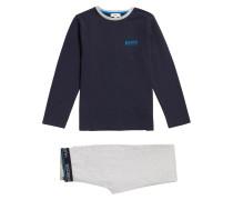 Kids-Pyjama aus Baumwolle mit Logo-Print