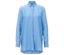Oversize-Bluse aus strukturierter Seide