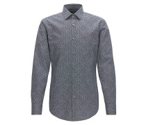 Gemustertes Slim-Fit Hemd aus Baumwolle