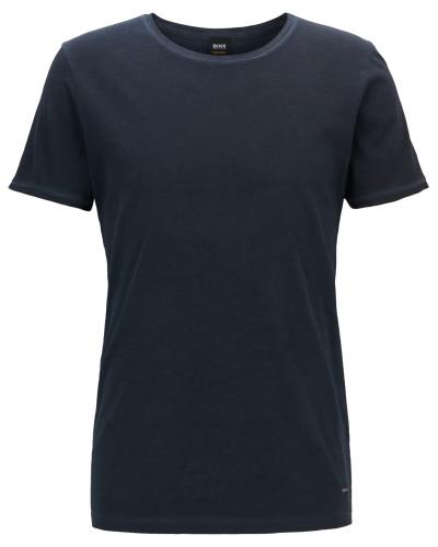Stückgefärbtes Regular-Fit T-Shirt aus Baumwolle