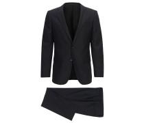 Slim-Fit-Anzug aus elastischem Schurwoll-Mix