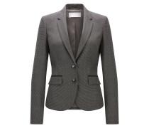 Regular-Fit Blazer aus elastischer Schurwolle mit Vichy-Karo