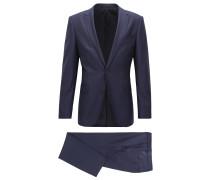 Travel Line Slim-Fit Anzug aus fein gemusterter Schurwolle