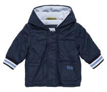 Gesteppte Baby-Jacke aus Material-Mix mit Kapuze