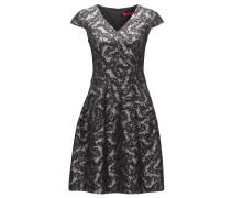 Gemustertes Kleid aus Baumwoll-Mix