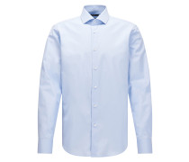 Regular-Fit Hemd aus italienischer Vollzwirn-Baumwolle