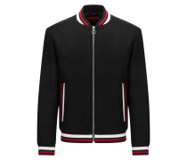 Slim-Fit Bomberjacke aus Schurwoll-Mix