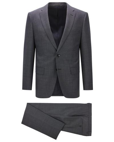 Gesprenkelter Regular-Fit Anzug aus Schurwolle