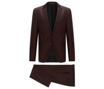 Slim-Fit Anzug aus Schurwolle mit kontrastfarbenen Seiden-Details
