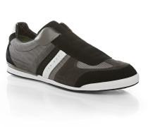 Sneakers aus Veloursleder mit Nylon-Partien