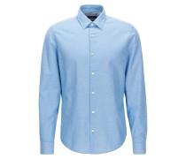 Kurz geschnittenes Regular-Fit Hemd aus Baumwoll-Mix mit Leinen