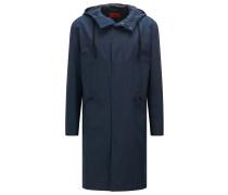 Wasserabweisender Mantel aus Material-Mix mit Baumwolle