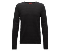 Gestreifter Slim-Fit-Pullover aus gestricktem Jacquard