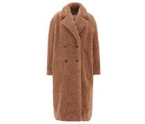 Mantel aus Teddy-Kunstfell