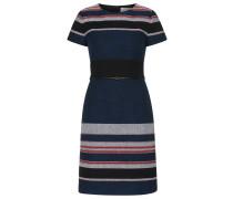 Gestreiftes Kleid aus strukturiertem Baumwoll-Mix