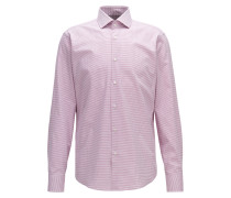 Fein gemustertes Regular-Fit Hemd aus Baumwoll-Twill