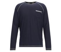 Regular-Fit Pyjama Longsleeve aus elastischem Baumwoll-Mix