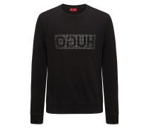 Pullover aus Baumwolle mit spiegelverkehrtem Logo