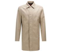 Regular-Fit Mantel aus wasserabweisendem Material-Mix mit Baumwolle