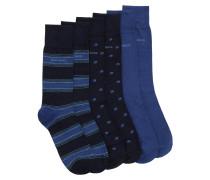 Mittelhohe Socken aus elastischem Baumwoll-Mix im Dreier-Pack