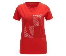 Slim-Fit T-Shirt aus Baumwolle mit O-Print
