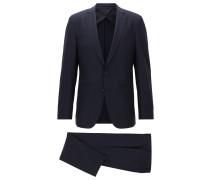 Slim-Fit Anzug für die Reise aus Schurwolle