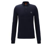 Slim-Fit Longsleeve Poloshirt aus Stretch-Baumwolle