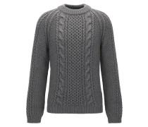 Strukturierter Pullover aus Kaschmir-Mix mit Wolle