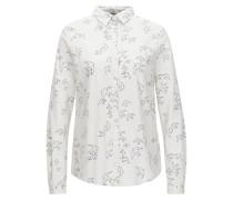 Regular-Fit-Bluse aus elastischer Baumwolle