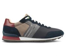 Leichte Sneakers aus Velours-, Nappa- und Nubukleder mit Mesh-Details