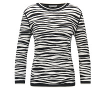 Pullover aus weichem Jacquard mit Zebrastreifen-Muster