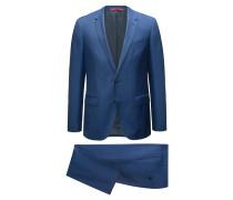 Slim-Fit Anzug aus Schurwolle mit feiner Twill-Struktur