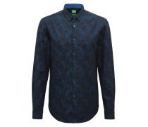 Slim-Fit Hemd aus Baumwoll-Jacquard