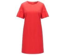 Relaxed-Fit Kleid aus elastischer Baumwolle mit gerüschten Ärmeln