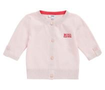 Baby-Strickjacke aus Baumwoll-Mix mit Glitzer-Bündchen