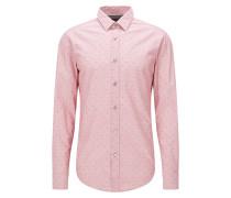 Slim-Fit Hemd aus Baumwolle mit Fil-coupé-Struktur