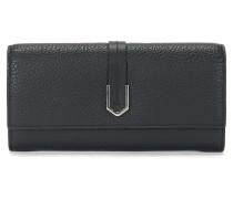 Geldbörse aus Leder mit geometrischen Details