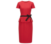 Regular-Fit Kleid aus Krepp mit Schößchen