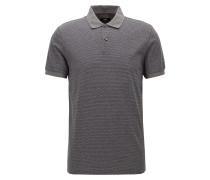 Dezent gemustertes Slim-Fit Poloshirt aus Baumwolle