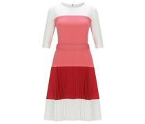 Regular-Fit Kleid aus leichtem Gewebe mit Colour-Block-Design