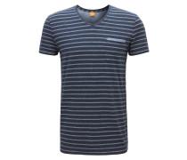 Meliertes Regular-Fit T-Shirt aus Single-Jersey