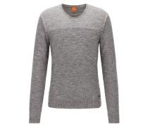 Regular-Fit Baumwoll-Pullover mit V-Ausschnitt
