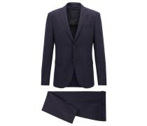 Slim-Fit Anzug aus Schurwolle mit Elasthan-Anteil