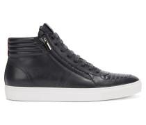 Hightop Sneakers aus gepolstertem Nappaleder mit Schnürung