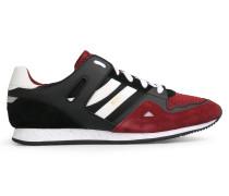 Sneakers aus Material-Mix mit Schnürung und EVA-Sohle
