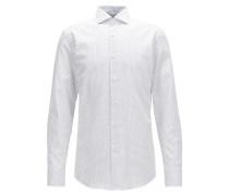 Slim-Fit Hemd aus Oxford-Baumwolle mit Anker-Print
