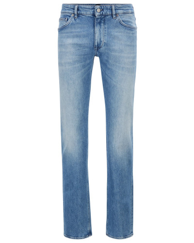 Regular-Fit Jeans aus ringgesponnenem, italienischem Stretch-Denim