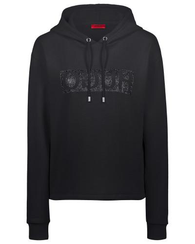 Hoodie aus Baumwoll-Jersey mit Reversed-Logo