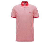 Regular-Fit Poloshirt aus merzerisierter Baumwolle