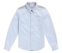 Kids-Hemd aus Baumwolle mit Jersey-Besätzen